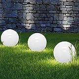 LED Solarkugel Solarleuchte Solarlampe Leuchtkugel - Ø 30cm