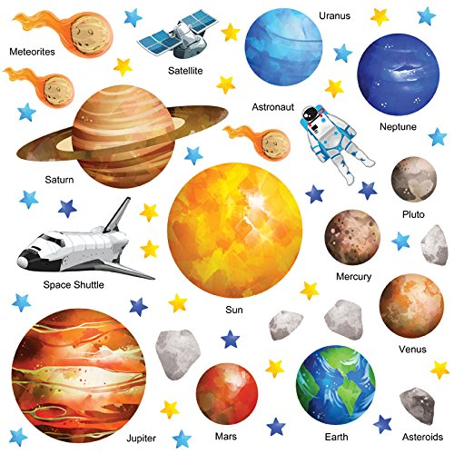 the ultimate educational space planet solar system wall planet wall stickers stickerscape uk