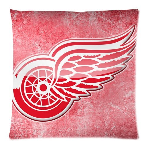 Personalized Home Bedding Pillowcase Nhl Detroit Red Wings Club Team Logo One Side Rectangle Pillowcases Standard Size 18X18-2 front-1010326
