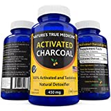 Best Activated Charcoal Capsules (450 Mg Supplement) -Detox Naturally and Safely. Reduce gas, bloating, and indigestion - 100% Tasteless, USA Made. Non-GMO pills, no gluten