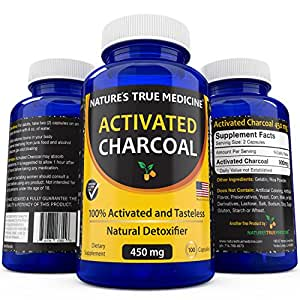 Amazon com best activated charcoal capsules 450 mg supplement