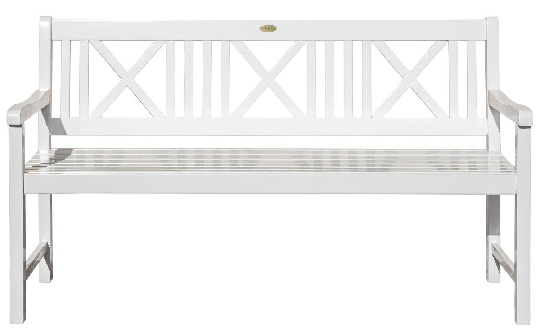 Landhausbank LÜBECK weiß lackiert, 3-Sitzer aus Eukalyptus 100% FSC, B 154 x H 89 x T 59 cm günstig kaufen
