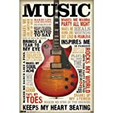 """Trends International, Music Inspires Me, 22"""" x 34"""", Wall Poster"""