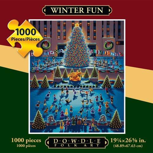 Jigsaw Puzzle - Winter Fun 1000 Pc By Dowdle Folk Art