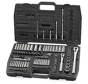 craftsman 99 piece mechanics tool set with case set includes 1 4 3 8 1 2 inch drive tools. Black Bedroom Furniture Sets. Home Design Ideas