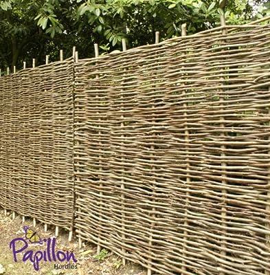 Hazel hurdles fencing panel 6ft x 6ft