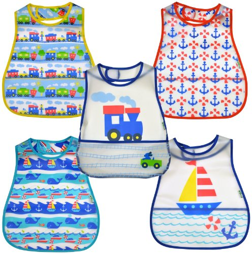 green sprouts by i play. Scenic Eva Bib - Boy - Boy - 5 ct