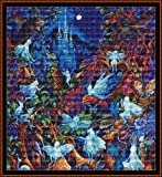 Cross Stitch Chart / Pattern - BLUE FAIRIES [ PDF on a CD ]