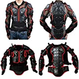 Motorcycle Motocross Accessories Racing Sport Full Enduro Body Armor Spine Chest Protective Gear Off Road Protector Jacket Red Size XL For 2009 2010 2011 2012 Kawasaki KLX 150 S