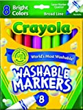 Crayola 8 Super Washable Markers Broad Line
