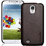 INVELLOP Brown Leatherette Case Cover for Samsung Galaxy S4 SIV i9500 (Galaxy S4, Brown)