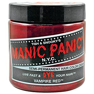 Manic Panic Semi-Permanent Hair Color Cream, Vampire Red, 4 oz