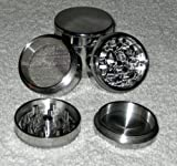 "Four Piece Herb, Spice or Tobacco Pollen Grinder, 42 mm diameter (1.65"")"