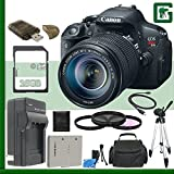 Canon EOS Rebel T5i Digital SLR Camera and Canon EF 18-135mm IS STM Lens + 16GB Green's Camera Package