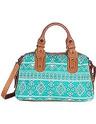 Shaun Design Women's Aqua Blue Tribal Handbag (Aqua Blue) (BT5012P)