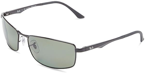 3833a0aa2b Ray-Ban RB3498 - BLACK Frame POLAR GREEN Lenses 64mm Polarized (Color  Black