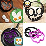 Ainest Ideal Silicone Skull Owl Egg Fried Mould Shaper Ring Kitchen Cooking Helper Hot rabbit
