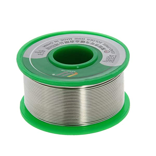 Utoolmart Lead Free Solder Wire 0.8mm Dia 100g Soldering Tin Wire Silver for Electrical Soldering and DIYs 1pcs (Color: 1pcs, Tamaño: 0.8mm)