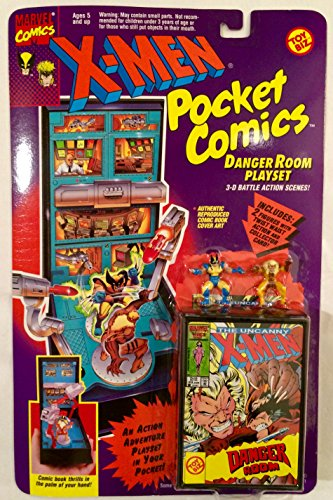 X-Men Pocket Comics Danger Room Playset w/ Wolverine and Sabretooth (1994) - 1