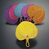 Raffia Fan Assortment (1 dz)