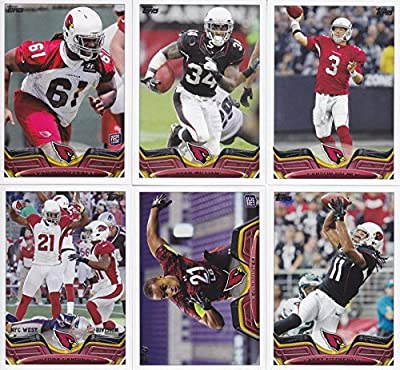 Arizona Cardinals 2013 Topps NFL Football Complete Regular Issue 15 Card Team Set Including Carson Palmer, Patrick Peterson, Larry Fitzgerald and Others
