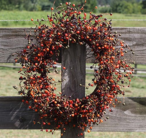 Flora Decor Fall Berry Wreath Set - 2 Piece Set - 20