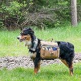 Lalawow Hunderucksack Rucksack Backpack Satteltasche für Hunde (Braun) -