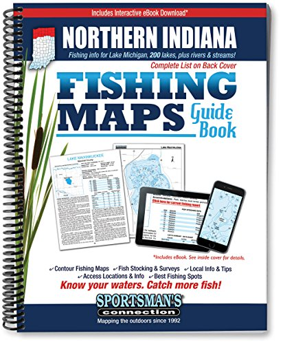 Northern Indiana Fishing Map Guide (Indiana Fishing compare prices)