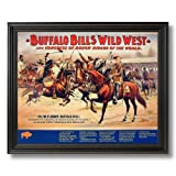 Cowboy Buffalo Bill Vintage Poster Ad Western Rodeo Home Decor Wall Picture Black Framed Art Print