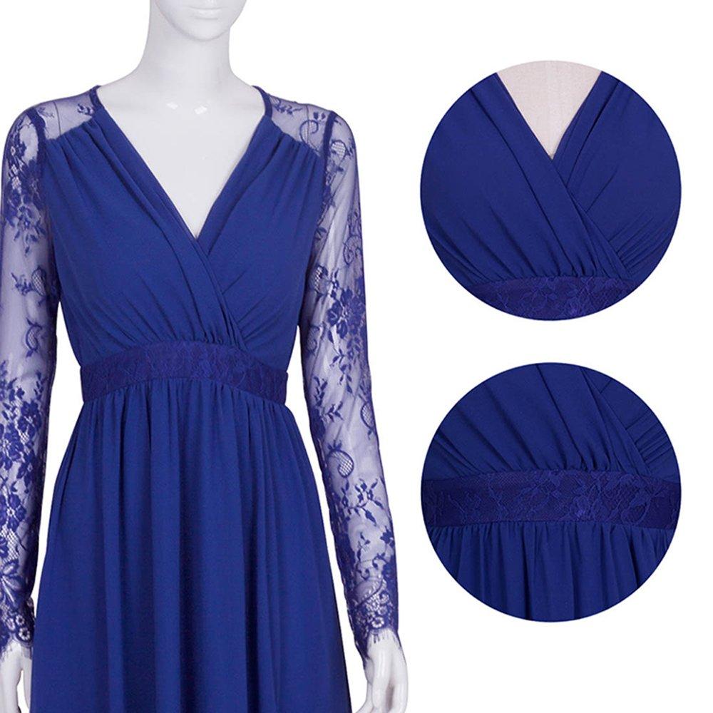 Merope J Women's Casual Deep- V Neck Sleeveless Vintage Maxi Dress 3