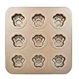 BETOP HOUSE Durable 9-Cup Nonstick Gold Cute Mini Cat Pawn Cake Pan Mold (Color: Champagne)