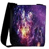 Snoogg Amazing Nebula Space Designer Womens Carry Around Cross Body Tote Handbag Sling Bags