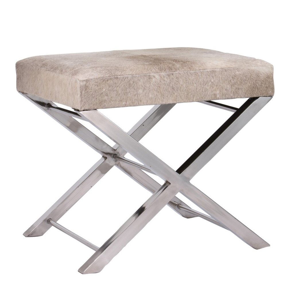 Amazon.com - Lazy Susan Gray Faux Pony Bench