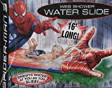 Inflatable drinking water Slides:Spider-Man three Web Shower drinking water Slide 16' Long
