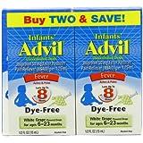 Infant's Advil, Dye-Free White Grape, 0.5 Ounce (2 Count)
