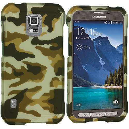 Accessory Planet(Tm) Camo 2D Hard Snap-On Design Rubberized Case Cover Accessory For Samsung Galaxy S5 Active