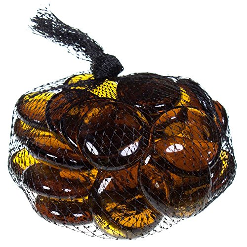 Gemnique Glass Gems Decor, Large, Amber (Amber Mosaic Gems compare prices)