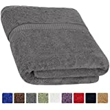 Cotton Luxury Bath Sheet Grey - (35 inches x 70 inches) Easy Care, Ringspun Cotton for Maximum Softness and Absorbency - By Utopia Towels