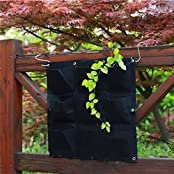 Green Vertical Garden Planter Wall Planting Flower Grow Bag Felt (Size-16)