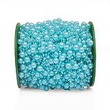Grace Florist 98 Feet Fishing Line Artificial Pearls Beads Garland Chain for Flower Garland Wedding Decoration & DIY Bridal Bouquet(8+3mm) (Blue) (Color: blue)