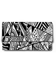 Sleep Nature's Wonderful Black And White Printed Ladies Wallet