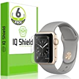 Apple Watch Series 2 Screen Protector (38mm) (6-Pack), IQ Shield LiQuidSkin Full Coverage Screen Protector for Apple Watch Series 2 HD Clear Anti-Bubble Film - with