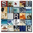 Surf City by Charlie Carter Custom Gallery-Wrapped Canvas Giclee Art (Ready to Hang)