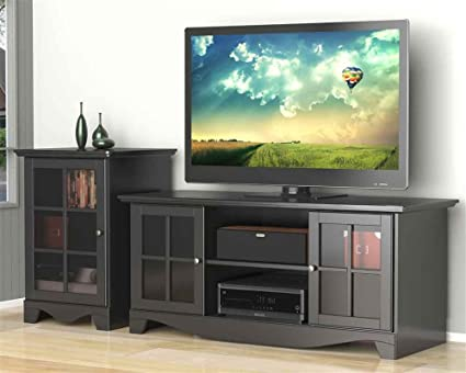 Eco-Friendly Modern TV Stand with Audio Tower