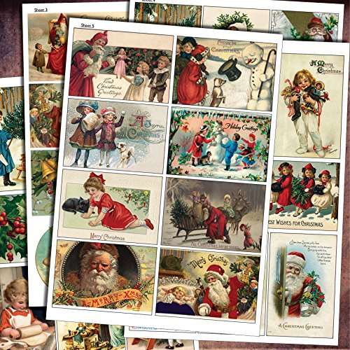 traditional-vintage-christmas-decoupage-craft-scrapbooking-sheets-victorian