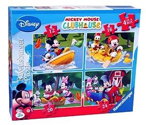 Ravensburger - Puzzles con diseño de Mickey Mouse (4 unidades) (7232)
