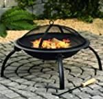 Round Fire Pit Folding Patio Garden B...