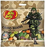 Jelly Belly FREEDOM FIGHTER Camo Gourmet Jelly Beans - USA Made - Chocolate Pudding, Green Apple, Licorice, Pear, Toasted Marshmallow, and Watermelon - 3.5 oz Retail Bag