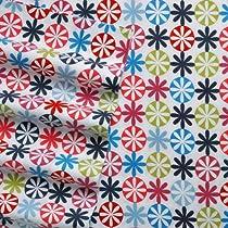 4 Piece Flannel Sheet Set with Deep Pockets Floral Dot