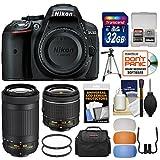 Nikon D5300 Digital SLR Camera & 18-55mm VR & 70-300mm DX AF-P Lenses with 32GB Card + Case + Tripod + 2 Filters + Flash Diffusers Kit